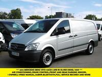 2013 MERCEDES VITO 113CDI LWB DIESEL VAN IN SILVER *** AIR CONDITIONING,CRUISE C