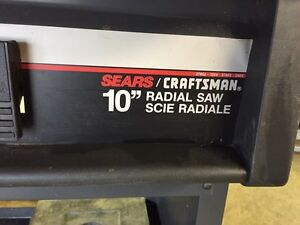 "Craftsman 10"" radial arm saw. Revelstoke British Columbia image 2"