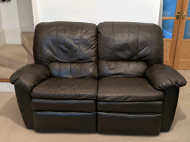 3&2 seater leather reclining sofa set