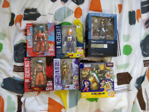 Dragon Ball Z and Nintendo S.H. Figuarts and figma