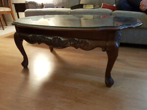 Glass Covered Coffee Table