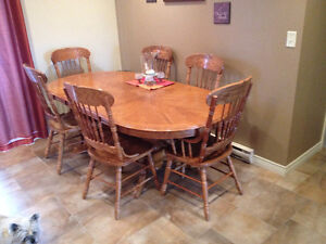 Oak Table 6 Chairs