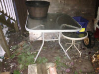 Patio table (without chairs) glass top