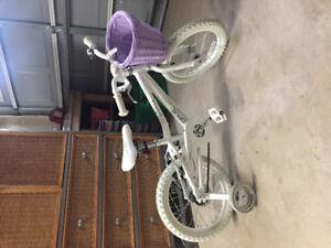 "Like New - 16"" White Opus Girl's bike"
