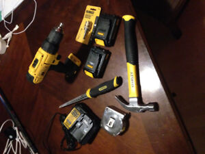 Power drill and hand tools