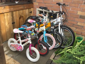 Boys and Girls Bikes 4 All Ages