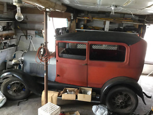 1928 Ford Model A for sale. Restoration in progress...