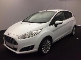 Ford Fiesta 1.0, 1.2, 1.4, EcoBoost Zetec Titanium WHITE, 5dr FROM £28 PER WEEK