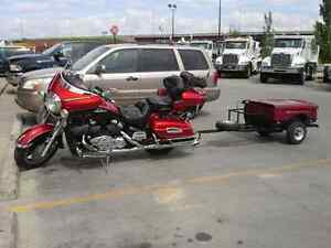 Great Touring Motorcycle and Trailer set up.