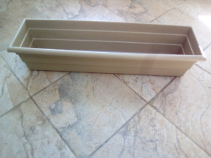 Flower boxes with brackets