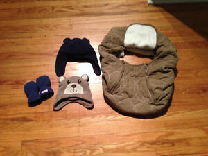 Baby Hats, Mitts and Carseat Cover