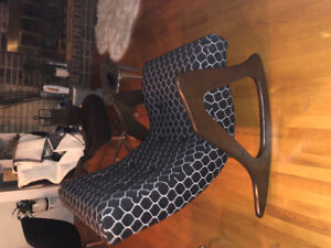 Chaise berceuse Vintage