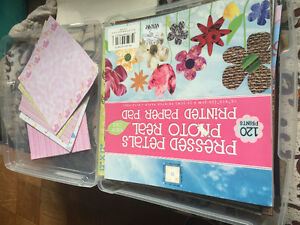 Scrapbooking paper and case