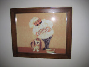 Chef and dog picture