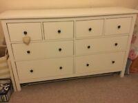 Hemnes 8 drawer chest of drawers