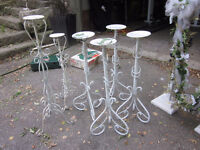 6 Wrought Iron Plant Stands Wedding Decor