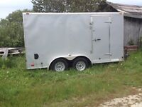 Complete Eavestrough Trailer for Sale with Ironman Machine
