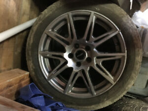 """17"""" tires and rims.  Goodyear *lots of tread left*"""
