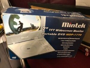 PORTABLE DVD PLAYER * LIKE BRAND NEW IN BOX * WITH REMOTE.