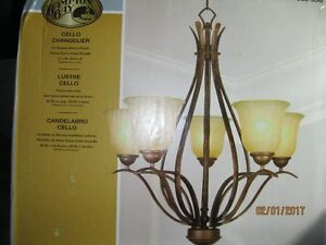 Ceiling Light Fixture Cello Chandelier from Home Depot.