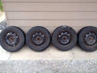 195 65 R15 VW Jetta Winter Tires on Rims 5x100