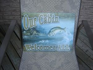 NEW METAL SIGN/PICTURE/FISHING/SPORTS London Ontario image 1