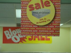 BLOW OUT MATTRESS SALE