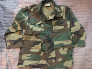 Army Camouflage Jacket with Pockets - Size 6