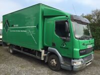 DAF LF45.170 SLEEPER CAB BOX LORRY WITH TAILIFT, 2005/55 PLATE.