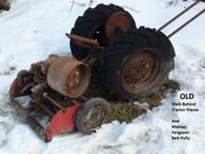 Walk Behind Tractor Pieces, Massey Ferguson 35 Belt Pully +