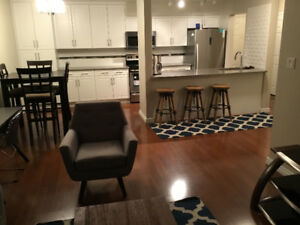 2 bedroom 1 bathroom furnished apartment W/laundry