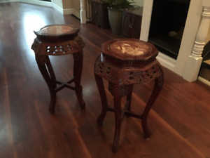 OCCASIONAL TABLES - Indonesian Style (pair)
