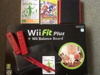 Wii mini in red bundle with balance board