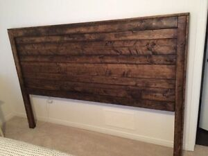 Reclaimed wood headboard $275 or best offer  Cambridge Kitchener Area image 2