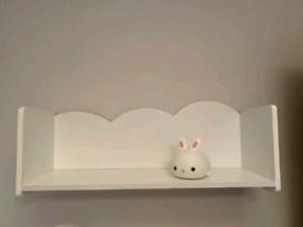 Cloud shelf for child's bedroom/nursery