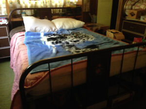 Old style double bed