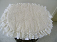 SET OF 4 COUNTRY SEAMERS LACY SEAT PADS