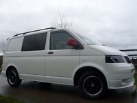 VW T5 CAMPERVAN SWB-FULL SPEC VDub PASSION CONVERSION-1.9TDi (84BHP)-RED. PRICE!!