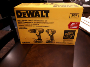 Dewalt drill and driver combo brand new