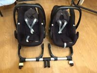 Twin Travel Carseat Package