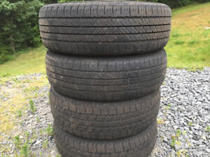 Four P195/65R15 Summer Tires