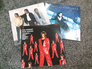 Vintage LP Records! Rod Stewart and Huey Lewis and The News