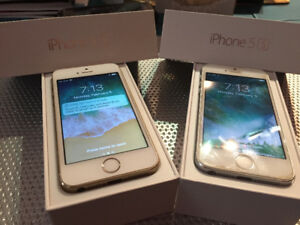 2 iPhone 5S (unlocked) with original boxes and chargers