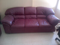 REDUCED for QUICK SALE Genuine Italian Lamb leather couch