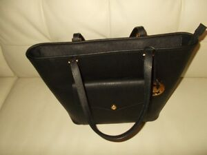 Michael Kors Women Black Leather Tote AUTHENTIC