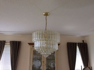 Beautiful Chandelier and Matching Wall Light