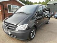 2013 MERCEDES VITO 110 CDI X LONG WHEELBASE WITH AIR CONDITIONING PANEL VAN DIE