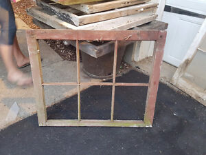 Old wooden windows picture frames