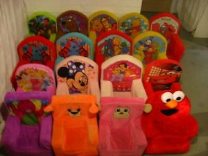 CHAISE COUSINÉE SPIDERMAN,LES BAGNOLES,WINNIE,ELMO,PRINCESSE+++