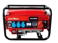 Generator KRAFTWELE OHV6500 3 Phase 4,5 KW Petrol